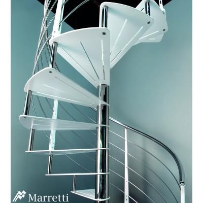 Scara elicoidala cu trepte din otel Marretti Flo 160 - detaliu