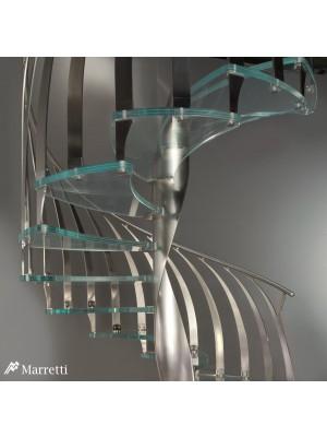 Piuma by Marretti - scara elicoidala cu trepte din sticla