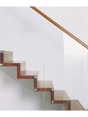 Scara dreapta Invent Estfeller - detaliu balustrada sticla