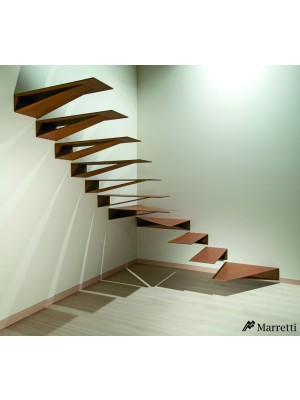 Origami Marretti - scara balansata din otel pliat