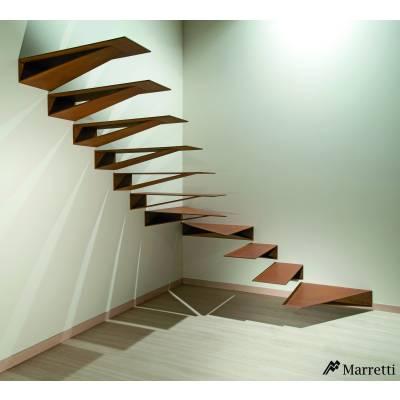 Origami by Marretti - scara balansata din otel pliat